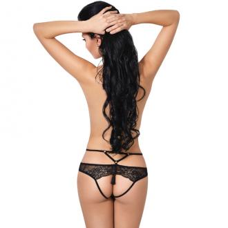 Le Frivole - 04342 Panties con Abertura Negro