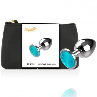 Coquette Plug Anal de Metal Talla S Cristal Blue 2.7x 8cm