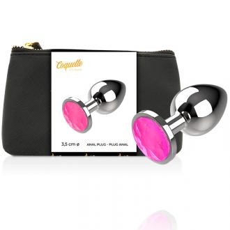 Coquette Plug Anal de Metal Talla M Cristal Pink 3.5 X 8cm