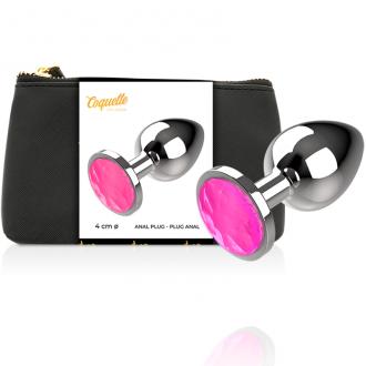 Coquette Plug Anal de Metal Talla L Cristal Pink 4 X 9cm