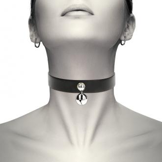 Coquette Collar Cuero Vegano Accesorio Woman Cascabel