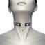 Coquette Collar Cuero Vegano Accesorio Corazón con Llave