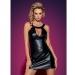Imagen Miniatura Obsessive Darksy Vestido Leather Negro & Tanga  1