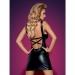 Imagen Miniatura Obsessive Darksy Vestido Leather Negro & Tanga  2