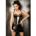 Imagen Miniatura Passion Marie Chemise & Tanga Negro Leather  2