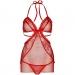 Imagen Miniatura Leg Avenue Chemise Tipo Delantal y Tanga a Juego Rojo 3