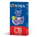 Imagen Miniatura Control 2 In One Touch And Feel + Lubricante 6 Unidades 2